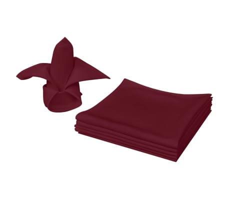 vidaXL Dinner Napkins 10 pcs Burgundy 50x50 cm