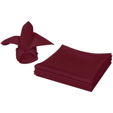 vidaXL Pietų stalo servetėlės, 10 vnt., vyšninės spalvos, 50x50 cm[1/4]