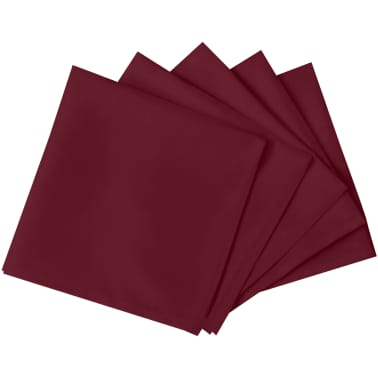 vidaXL Pietų stalo servetėlės, 10 vnt., vyšninės spalvos, 50x50 cm[2/4]
