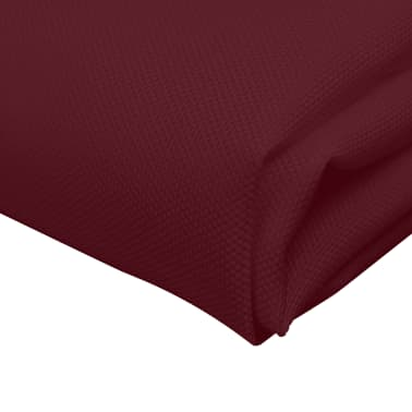 vidaXL Pietų stalo servetėlės, 10 vnt., vyšninės spalvos, 50x50 cm[4/4]