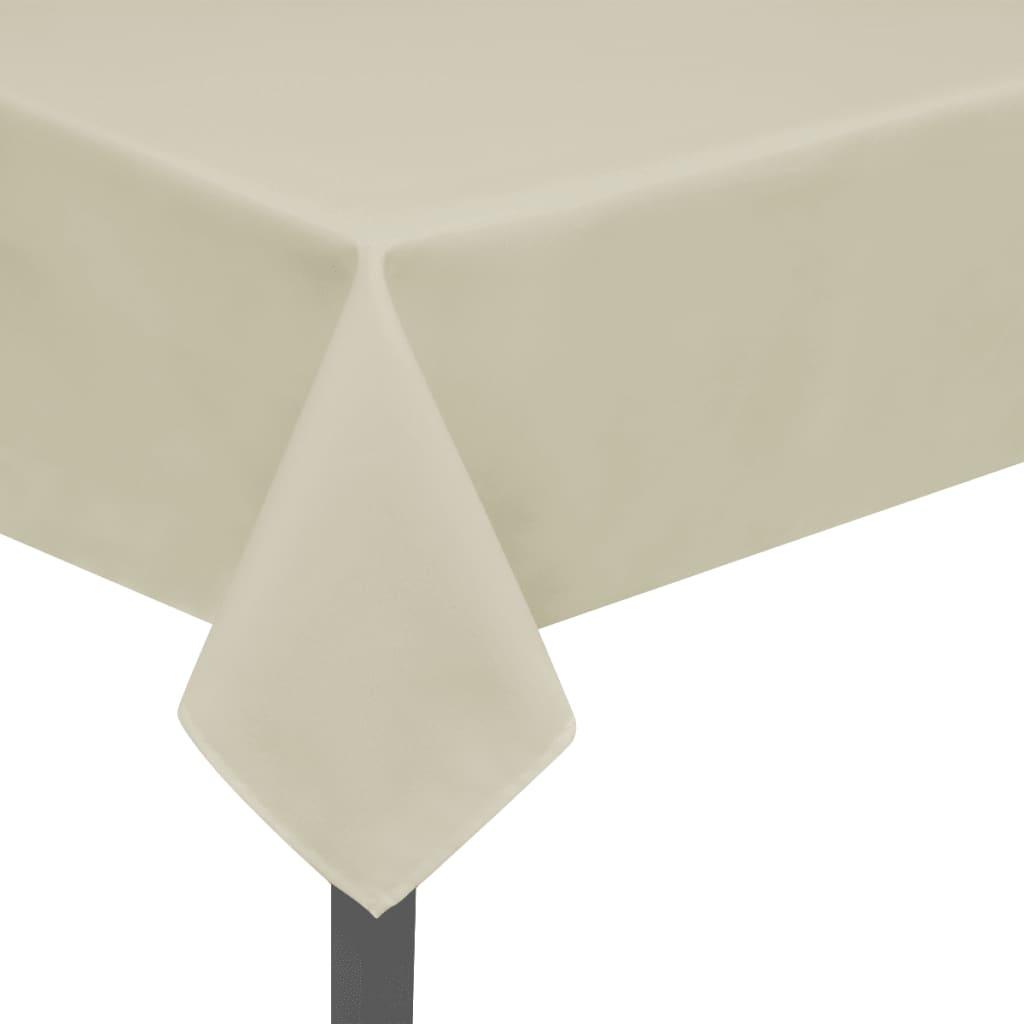 vidaXL Fețe de masă, 130 x 130 cm, 5 buc, crem vidaxl.ro