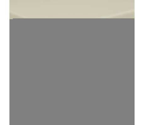 vidaXL Tafelkleden 5 stuks créme 190x130 cm
