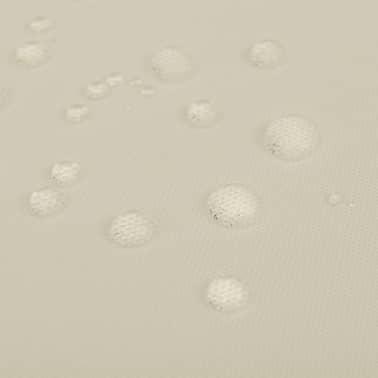 vidaXL Staltiesės, 5 vnt., kremo spalvos, 250x130 cm[3/3]
