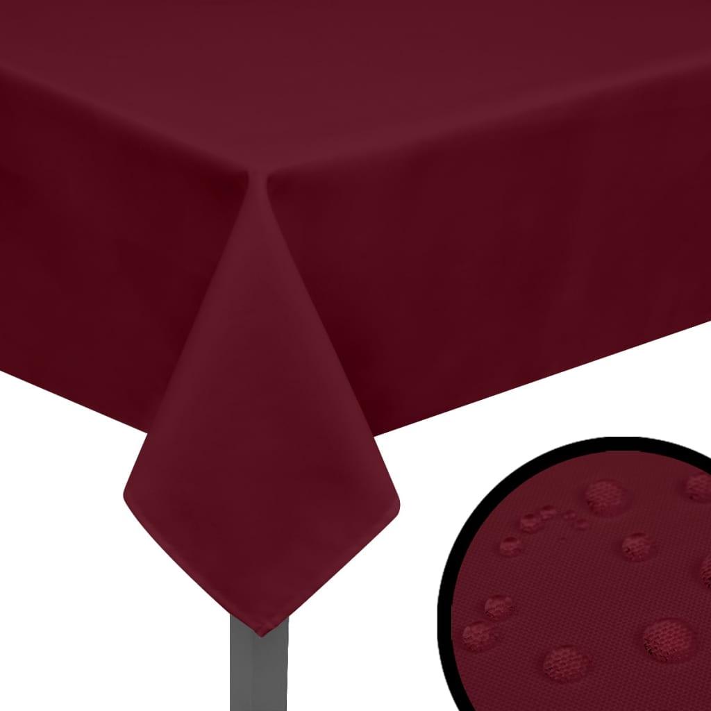 vidaXL Ubrusy 5 ks vínové 130x130 cm