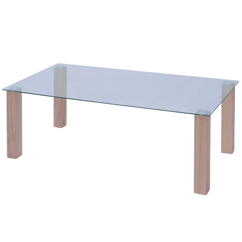vidaXL Konferenční stolek sklo 120x60x43 cm