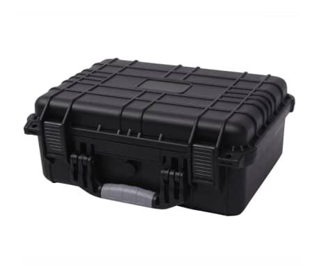 vidaXL Lagaminas įrangai, 40,6x33x17,4 cm, juodos spalvos