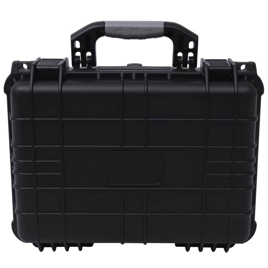 vidaXL Beschermende materiaalkoffer 40,6x33x17,4 cm zwart