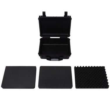vidaXL Boîte de protection pour équipement 40,6 x 33 x 17,4 cm noir[5/7]