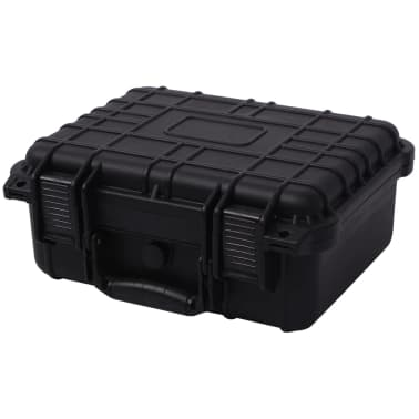 vidaXL Beschermende materiaalkoffer 35x29,5x15 cm zwart[1/7]