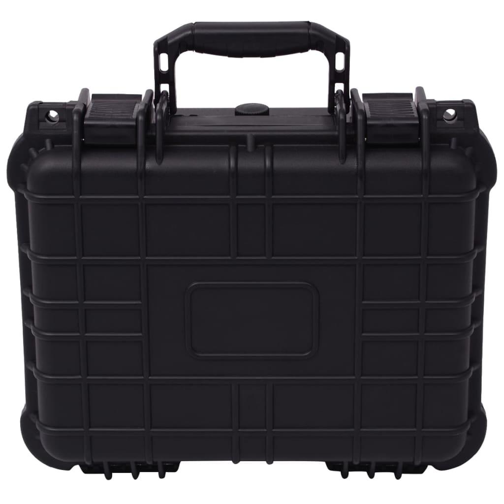 vidaXL Beschermende materiaalkoffer 35x29,5x15 cm zwart
