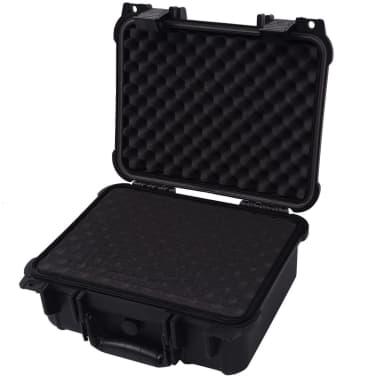 vidaXL Beschermende materiaalkoffer 35x29,5x15 cm zwart[3/7]