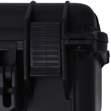 vidaXL Beschermende materiaalkoffer 35x29,5x15 cm zwart[7/7]