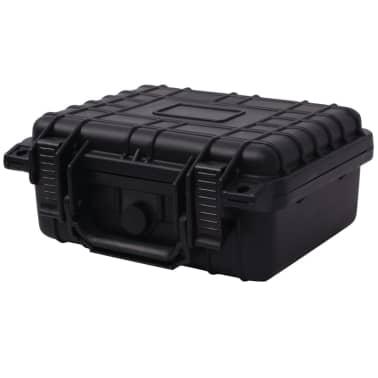 vidaXL Lagaminas įrangai, 27x24,6x12,4 cm, juodos spalvos[1/7]