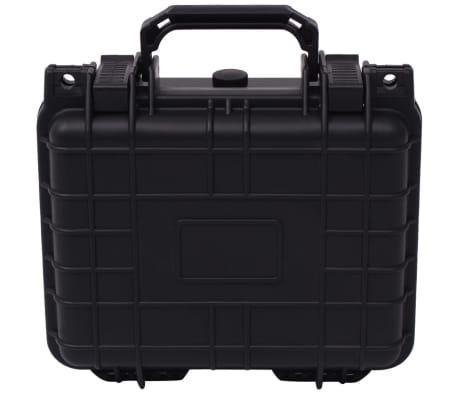 vidaXL Lagaminas įrangai, 27x24,6x12,4 cm, juodos spalvos[2/7]