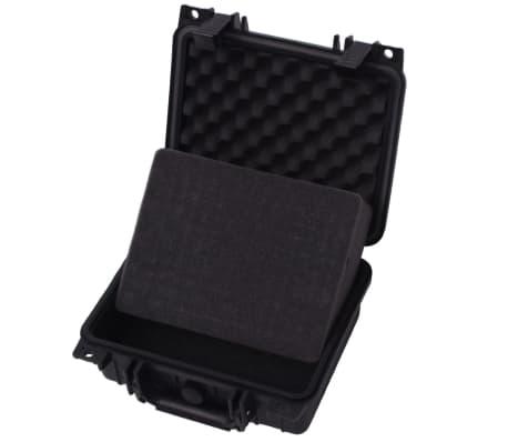 vidaXL Lagaminas įrangai, 27x24,6x12,4 cm, juodos spalvos[4/7]