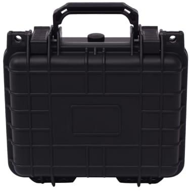 vidaXL Boîte de protection pour équipement 27 x 24,6 x 12,4 cm noir[2/7]