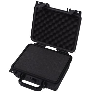 vidaXL Lagaminas įrangai, 27x24,6x12,4 cm, juodos spalvos[3/7]