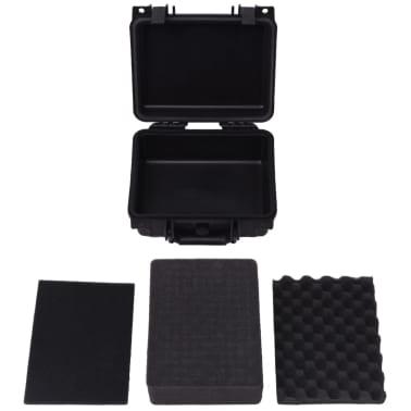 vidaXL Lagaminas įrangai, 27x24,6x12,4 cm, juodos spalvos[5/7]