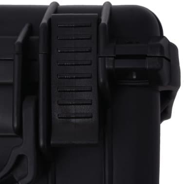 vidaXL Boîte de protection pour équipement 27 x 24,6 x 12,4 cm noir[7/7]