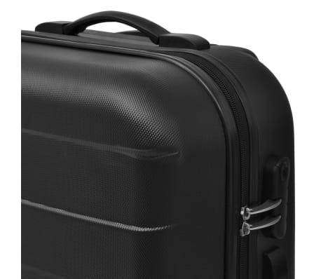 vidaxl 3 tlg hartschalen reisekoffer set trolley schwarz. Black Bedroom Furniture Sets. Home Design Ideas