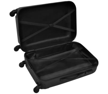 acdba2886e Sada troch čiernych cestovných kufrov na kolieskach vidaXL 4 5