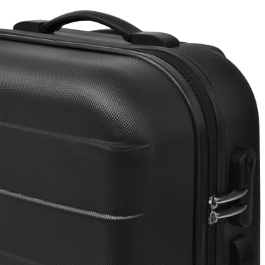 vidaXL 3 Piece Hardcase Trolley Set Black[3/5]