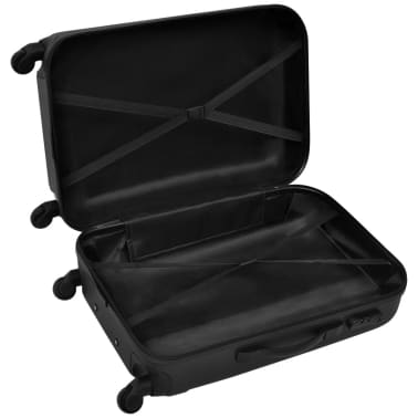 vidaXL 3 Piece Hardcase Trolley Set Black[4/5]