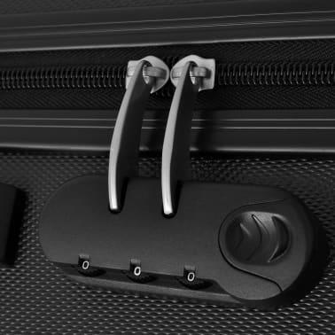 vidaXL Tre Deler Hardplast Trillekoffert Sett, Svart[5/5]