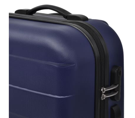 vidaXL 3 Piece Hardcase Trolley Set Blue[3/5]