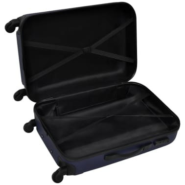 vidaXL 3 Piece Hardcase Trolley Set Blue[4/5]