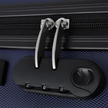 vidaXL 3 Piece Hardcase Trolley Set Blue[5/5]