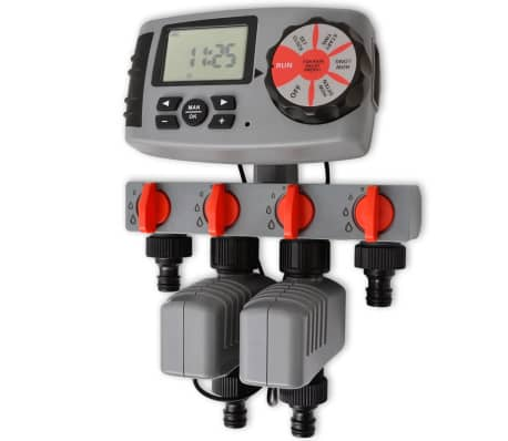 vidaXL Minuterie d'arrosage automatique avec 4 stations 3 V[1/6]
