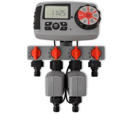 vidaXL Minuterie d'arrosage automatique avec 4 stations 3 V[2/6]