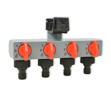 vidaXL Temporizador de riego automático con 4 estaciones 3 V[5/6]