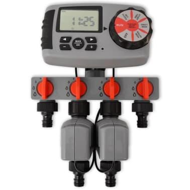 vidaXL Temporizador de riego automático con 4 estaciones 3 V[2/6]