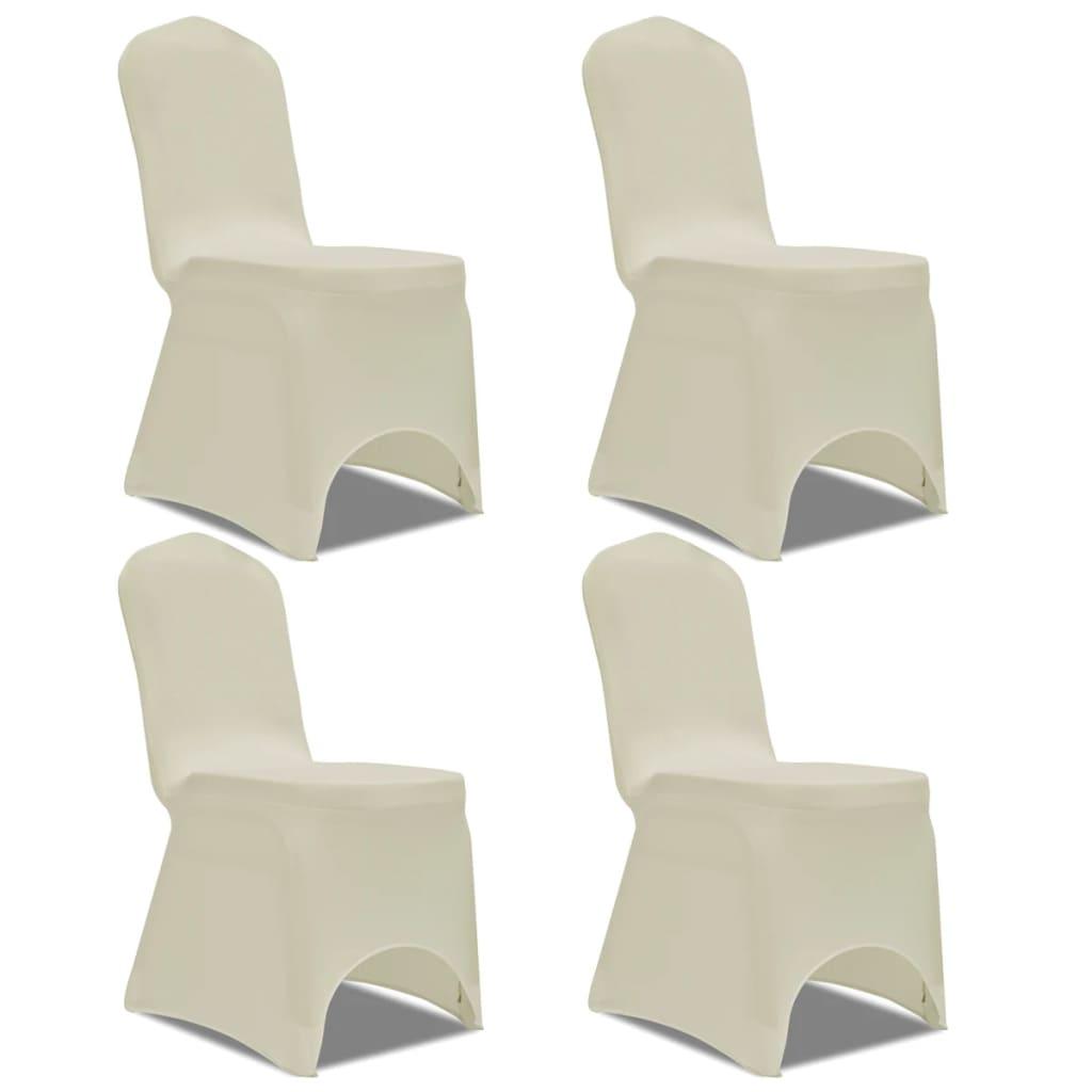 99131410 Stretch Stuhlbezug 4 Stück Creme