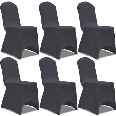 0a8a360cb058 Olcsó vidaXL 6 db nyújtható szék huzat antracit | vidaXL.hu