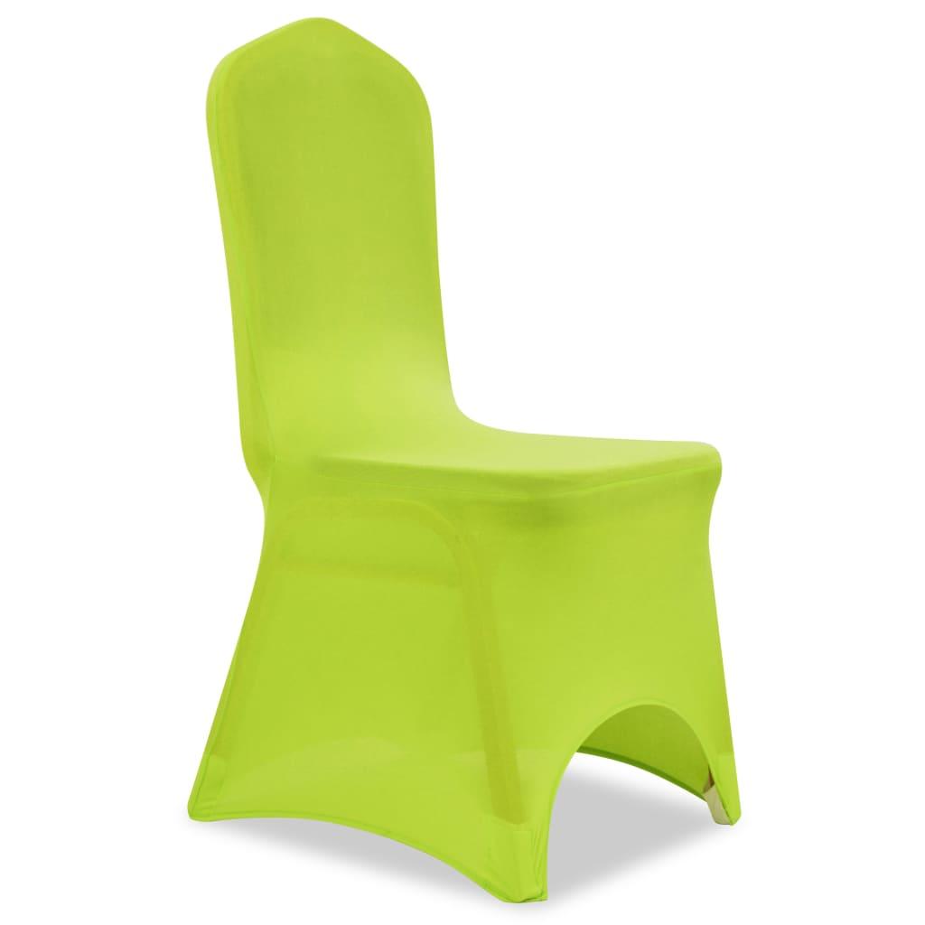 vidaXL Strečové potahy na židle 6 ks zelené