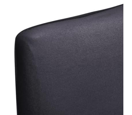 vidaXL Rakt elastiskt stolsöverdrag 4 st antracit[5/5]