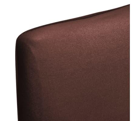ff7bce791aab1 vidaXL Rovný naťahovací návlek na stoličku, 4 ks, hnedý | vidaXL.sk