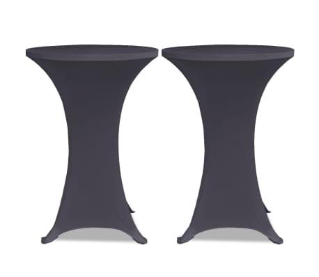 vidaXL Stretch Table Cover 2 pcs 60 cm Anthracite