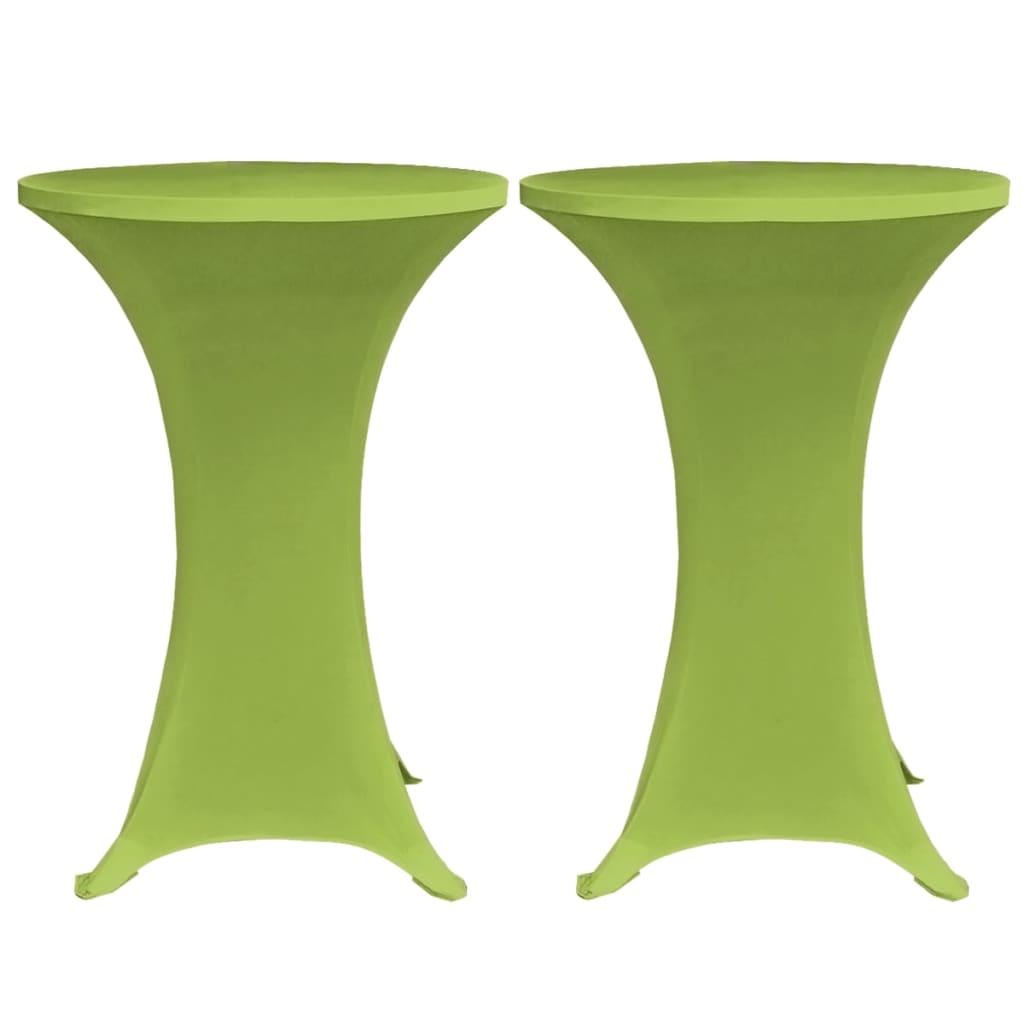 vidaXL Strečový návlek na stůl 2 ks 70 cm zelený