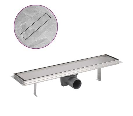 vidaXL Sprchový odtokový žlab rovný 530x140 mm nerezová ocel
