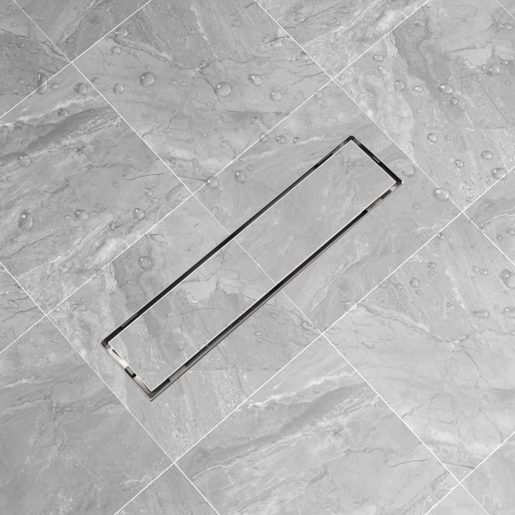 vidaXL Linear Shower Drain 530x140 mm Stainless Steel