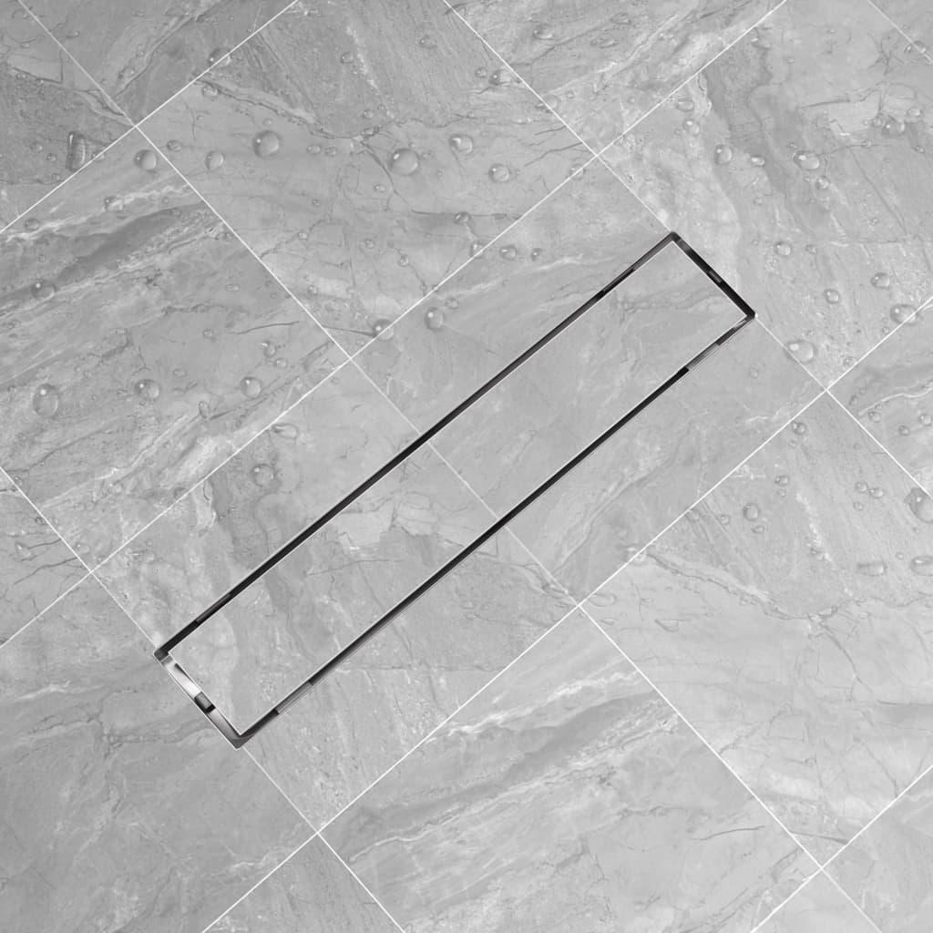 vidaXL Linear Shower Drain 630x140 mm Stainless Steel