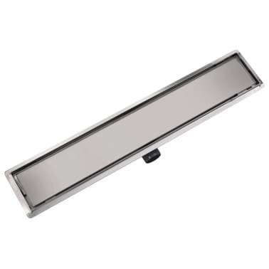 vidaXL Desagüe lineal de ducha 730x140 mm acero inoxidable[3/7]