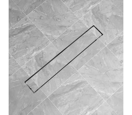 vidaXL Desagüe lineal de ducha 730x140 mm acero inoxidable[1/7]