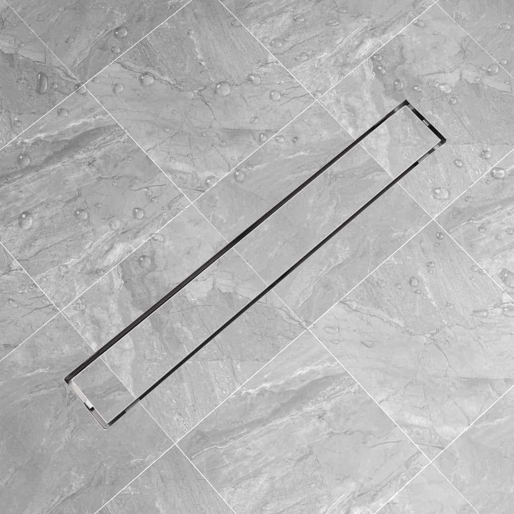Sprchový odtokový žlab rovný 830x140 mm nerezová ocel