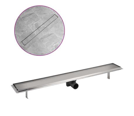vidaXL Sprchový odtokový žlab rovný 930x140 mm nerezová ocel