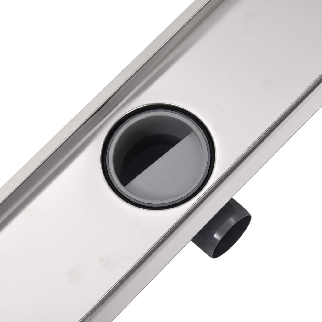 vidaXL Doucheafvoer rechthoekig 930x140 mm roestvrij staal